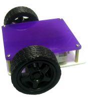 2-х моторное шасси робота с доп. плитой